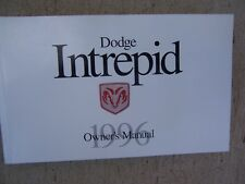 1996 Dodge Intrepid Auto Owner Manual Instruments Operating Maintenance Car  R