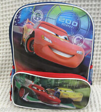 """Disney Pixar The Cars McQueen and Friends Racing 12"""" Backpack Book Bag-New!"""
