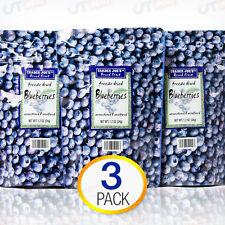 3-Pack Trader Joe's Freeze Dried Blueberries Fruit Unsweetened Unsulfured Snack