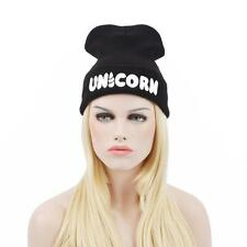 Winter Black UNICORN Beanie Hat And Snapback Men And Women Cap