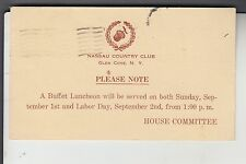 2 Government Postal Cards from Nassau Country Club Glen Cove NY