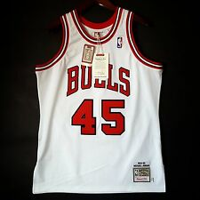 100% Authentic Michael Jordan Mitchell Ness 94 95 Bulls Home Jersey Size 44 L
