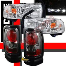 1994-2001 Dodge Ram 1500 2500 3500 Pickup LED Headlights & Tail Lights Chrome