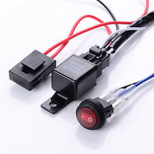 40A 12V LED Work Fog Light Bar Wiring Harness Relay Kit ON/OFF Switch Off Road