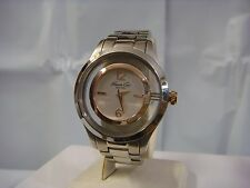 KENNETH COLE NY DRESS SILVER DIAL TWO-TONE ST. STEEL LADIES WATCH 10008080 NEW