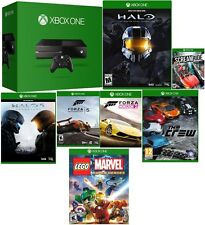 Microsoft Certified Xbox One 500GB Gaming Console MATTE BLACK - 7 GAME BUNDLE