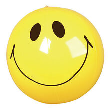 16 INCH INFLATABLE BLOW UP NOVELTY SMILE SMILING FACE BEACH BALL YELLOW HEAD