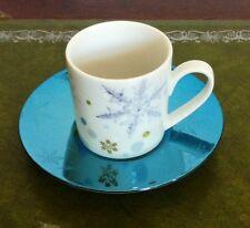 Rosenthal Solitaire Snowflake blau - Espresso Tasse mit Untere 2tlg 1. Wahl