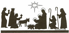 Christmas Nativity Silhouette Wood Mounted Rubber Stamp NORTHWOODS O9254 New
