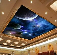 3D Wallpaper Ceiling Bedroom Mural Star Planet Universe Space Planet Living room