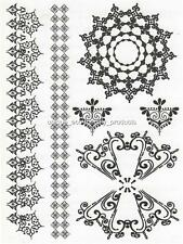 HENNA LARGE SHEET TAT 2452 BLACK  Temporary Tattoo