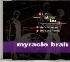 (CY298) Myracle Brah, I'd Rather Be - 2000 DJ CD
