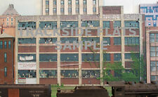 #101 HO scale background building flat   abandoned factory #2  FREE SHIPPING