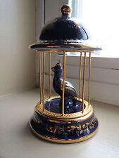 Limoges Bird Cage - Porcelain France - Cobalt and Gold