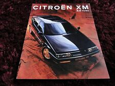 Citroen XM Turbo Brochure 1993