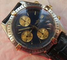 Breitling automatic Chronograph Date mens wristwatch steel & gold case 39 mm.