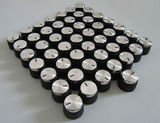 Pack of 50 Guitar Amplifier Knobs Black/Silver Cap fits Marshall AMP Amplifiers