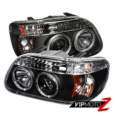 95-01 Ford Explorer Sport Halo LED Projector Black 1PC Headlight+Corner Lamp L+R