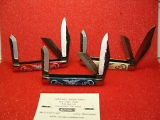 COLONIAL KNIFE CO--THE SERVICE SERIES--1975--3 KNIFE SET--ARMY,NAVY,MARINE CORPS