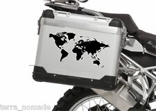 ARTISTIC WORLD MAP BIKE PANNIER BMW TUREG R12000GS STICKER JDM KTM TOURATECH