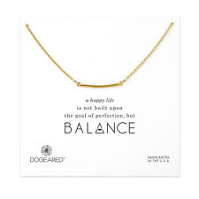 "NEW DOGEARED Gold ""BALANCE"" Medium Square Bar Necklace -SALE"