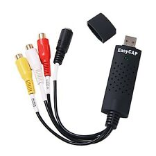 USB 2.0 EasyCap Video Audio Capture Adapter Card Device/Support Win 7 32/64-bit