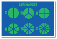 Fractions  - NEW Classroom Math Poster