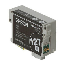 2017/18 GENUINE Epson 127 T127 Black Ink WF 7510 7520 7010 Workforce 635 845 840