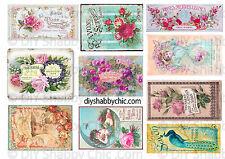 FRENCH FURNITURE DECAL DIY SHABBY CHIC IMAGE TRANSFER VINTAGE LABEL ROSES FLOWER