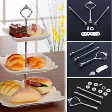 Useful Cake Stand 3 Tier Crown Cupcake Plate Handle Hardware Fitting Holder Hot