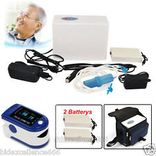 2016 Air Portable Oxygen Concentrator Generator+2Battery+Contec Figer Oximeter