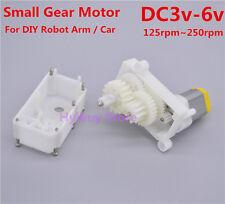 DC 3v-6v Small Mini Gear Motor Slow speed DIY Tank Robot Car rocker swing Arm