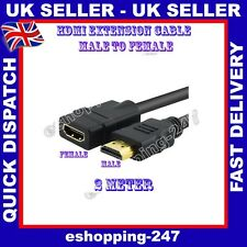 NEW 2M HDMI Extension Cable Male to Female Gold 1.3 M054
