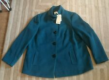 House of fraser linea range teal green coat bnwt size 20