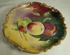 "Limoges France Coronet Hand Painted Fruit 10 & 1/4"" Charger Wall Plate Signed"