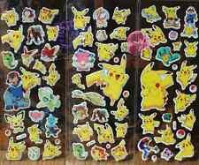 3pcs Pokemon Stickers Pikachu Pocket Monster Scrapbooking Sticker Sheet New