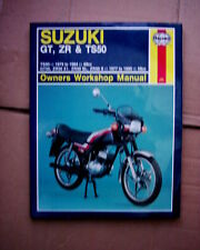 SUZUKI TS50, ZR50, GT50 HAYNES WORKSHOP MANUAL. 1977 - 1990 MODELS.
