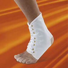 Professional Grade Vulkan White Lace Up Ankle Brace
