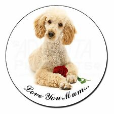 Poodle+Rose 'Love You Mum' Fridge Magnet Stocking Filler Christmas, AD-CP7RlymFM