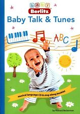 Baby Berlitz - Baby Talk and Tunes -  English (2004, CD & Book) Songs Care Fun
