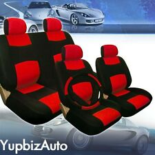 2004 2005 2006 2007 For Honda Civic Car Seat Covers Blk/Red