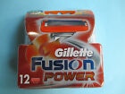 Free Shipping Genuine Gillette Fusion Power Razor Blade Refills 12 Count Germany