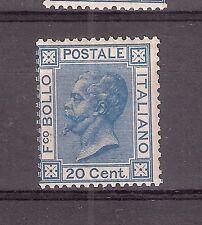REGNO 1867 STUPENDO Effige Vittorio Emanuele II 20 Cent Nuovo MNH Sas.ne 2.250 E
