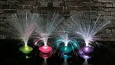 (1) Set 4 UFO FIBER OPTIC ~ PARTY LAMPS ~ NIGHT LIGHTS