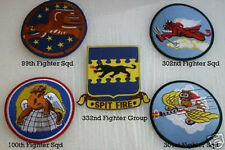 LARGE TUSKEGEE AIRMEN SQUADRON  99th 100th 301st 332nd  PATCH US ARMY AIR CORP