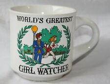 World's Greatest Girl Watcher Vintage Funny saying  Papel Mug/ Coffee Cup