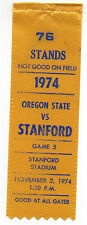 1974 College Football Ribbon Stanford University vs Oregon State