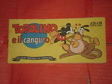 ALBI TASCABILI TOPOLINO-STRISCIA N° 25--prima 1° SERIE originale 1948 canguro