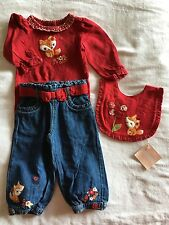 GYMBOREE ADORABLE BABY INFANT GIRL FOX RED LONG SLEEVE PANTS 12 18 Months Outfit