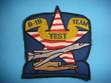 VIETNAM WAR BE PATCH, US AIR FORCE B -1 B LANCER TEST TEAM